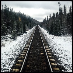 Railroad in the Snow (BrianRope) Tags: