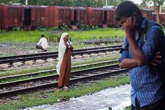 Life Around Railway Station ( ) Tags: railwaystation talking bangladesh peeing