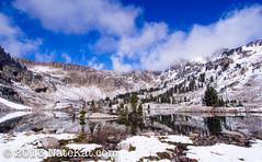 Alpine Reflection (NateKat Photography) Tags: blue snow reflection landscape backpacking wyoming alpinelake grandtetonnationalpark snowcappedmountains lakesolitude tetoncresttrail olympusepl5