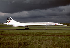G-BOAD Concorde EGPK 1995. (MarkP51) Tags: airport aircraft aviation nostalgia concorde britishairways prestwick pik prestwickairport gboad egpk
