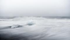 Brave the waves I (F_L_O_W_B_O) Tags: ocean black beach water island iceland sand dancing glacier jkulsrln 2014 jkulsarlon