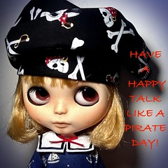 Blythe-a-Day September #19: Pirate: International Talk Like a Pirate Day