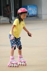 Girl Skating (Ray Cunningham) Tags: park people skating north korea skate roller recreation pyongyang dprk coreadelnorte