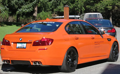 2014 BMW M5 (D70) Tags: orange canada cup club golf whistler bc september final shuttle bmw service chateau m5 fairmont 2014 1518 internationalcanadian 1bmw
