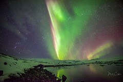 Northern Lights 2 of 14 (MarcCooper_1950) Tags: iceland nothernlights aurora skyscape intense night sky outdoors reflections clouds mountains winter landscape hdr nikon d810 samsung rokinon 14mm longexposure