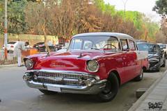 1957 Chevrolet 150, Bangladesh. (Samee55) Tags: bangladesh dhaka carspotting 2017 gulshan restored classic retro belair red