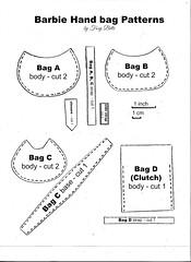 5. Barbie Handbag Patterns (Foxy Belle) Tags: barbie handmade sew bag hand handbag purse pocketbook how tutorial make handamde ooak free pattern doll 16 scale modern clutch hobo