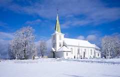 Tiller church in white winter environment. Explore 23-1-17 (harald.bohn) Tags: tiller kirke church white hvit vinter winter stillhet silence peaceful fredfullt fredelig trondheim norge norway