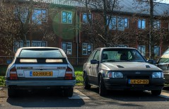 CX GTi Turbo 2 / Escort RS Turbo (Skylark92) Tags: nederland netherlands holland amsterdam noordholland oost east zeeburgereiland pr zuiderzeeweg citroen cx 25 2500 gti turbo 2 phase2 1986 ford escort 16 rs 1987 modified