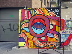 Street art by Da Cruz in Paris 19th (Sokleine) Tags: dacruz streetart street artderue arturbain rue urbanart colours ourcq paris 75019 france
