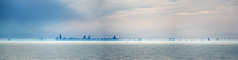 Superior Mirage on Lake Michigan (Tom Gill.) Tags: chicago indiana lake lakemichigan greatlakes mirage fog superiormirage weather skyline