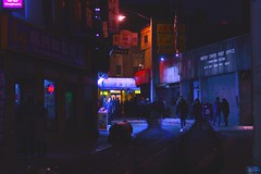 Chinatown (2/15) (zakchalmers) Tags: ny new york city cityscape street light color purple chinese year night photography canon t2i 50mm 春节 春節 spring festival rooster lantern shadow fade 鸡 january 28