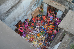 Puja! (ashik mahmud 1847) Tags: bangladesh d5100 nikkor aerialview aerialphotography people group hindu puja prayer color ngc