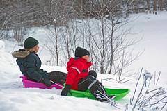 Ready Set Go! (atranswe) Tags: dsc302389 sweden sverige västernorrland ångermanland väja lat63lon18 nature vinter winter slänt slope barnbarn grandchildren pulkor sleds snö snow atranswe