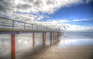 Seaside catwalk