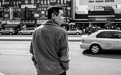Chinatown Smoker (Yewbert The Omnipotent) Tags: toronto canada lightroom urban city downtown candid street bw blackwhite tamron nikon d750 smoking smoker chinatown