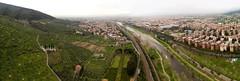Bisenzio river and Prato Pano
