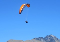Descending from the sky. (nick taz) Tags: descend skies paragliding queenstown newzealand southisland sports