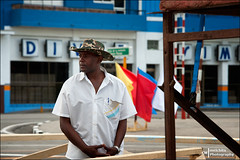 Security Guard (Melchita) Tags: streetphotography street streetcolor streetphotographycolor streetscenes streetportrait colorphotography urbanphotography urbanlife urbanscenes santiagodecuba melchita