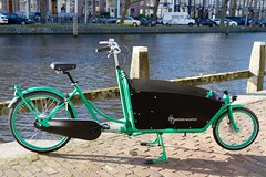 WorkCycles Kr8 Groen-1 (@WorkCycles) Tags: 6032 amsterdam bakfiets boxbike cargo cargobike custom dutchfiets green kr8 ral signal transportfiets workcycles