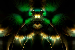Aura (Luc H.) Tags: aura green fractal abstract graphism graphic digital