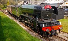 Flying Scotsman at Oxenhope (wontolla1 (Septuagenarian)) Tags: lner flying scotsman loco locomotive steam kwvr preserved railway big green mean machine 60103