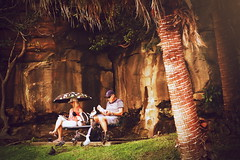 63+445: The odd couple (geemuses) Tags: shellybeach manly manlyheadlands nsw australia northernbeaches umbrella rain weather birds birdman palms tress landscapes nature street streetphotography scenic scenery views life