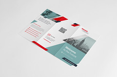 Corporate Trifold Brochure (Snowboy Design) Tags: a4 agency brochure business businessbrochure clean company companybrochure corporate creative design editable foldable indesign keyvisual leaflet minimal modern multipurpose official red simple swiss swissstyle templatebrochure trifold trifoldbrochure