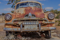 Rust in pieces (Malcom Lang) Tags: rusty crusty fj holden general motors farm automobile auto vehicle plate window headlights bumper grill tyres rust old rotting bricks grass mirror canoneos6d canon canonef2470mm canon6d canonef painterly effect paint rustyandcrusty
