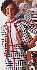 pennys 69 ss black white orange (jsbuttons) Tags: orange white black 1969 clothing mod 60s buttons womens jacket catalog 69 sixties pennys jcpenny skirtsuit vintagefashion buttonfront