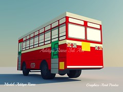 BEST Midi Bus (Aditya Rane 3D Art) Tags: old city india bus public buses station st night train 3d coach model jay deluxe indian tata transport models mini super best queen leopard single bombay cheetah local chassis thane mumbai viking panther pune ashok leyland cng ordinary decker livery 2x2 borivali yatri wadala mh01 chhatra msrtc