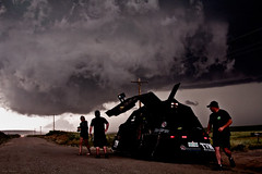Ominous (Terry Rosema) Tags: sky storm rain weather clouds danger dark photography photo ominous hunting vehicle thunderstorm tornado chasing severe stormchasing dominator