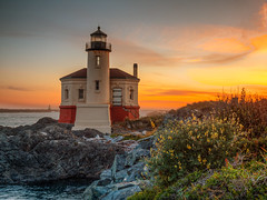 Dusk at Coquille River Lighthouse