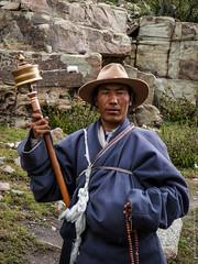 Тибетцы на Коре вокруг Кайласа в Тибете