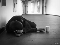StreetWork (Rey//Scue) Tags: street bw white germany blackwhite frankfurt homeless streetphotography documentary social olympus streetphoto omd em5 omdem5
