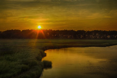 Sunset at the Wetlands (AmyBaker0902) Tags: sunset lighthouse island nc wetlands bodie outer banks
