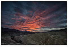 Death Valley sunrise (tyil.pics) Tags: red clouds sunrise nationalpark explore deathvalley zabriskiepoint nikond800e