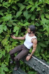 Logan in Central Park (ShellyS) Tags: nyc newyorkcity centralpark manhattan parks actionfigures logan wolverine hottoys