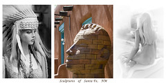 Santa Fe sculptures (nevadoyerupaja) Tags: street girls sculpture usa newmexico santafe female women canyon