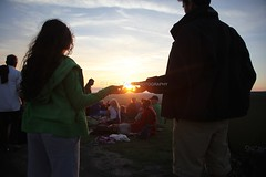 Solstice Evening 21st June 2014 (Laura Zaky Photography) Tags: sunset summer sun west set glastonbury somerset solstice tor solsticeeve2162014