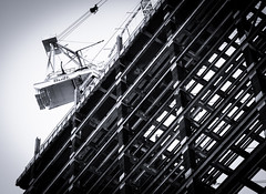 20140702 - 04 - Sydney - Sydney Today (Kayhadrin) Tags: bw building au sydney australia nsw scaffold martinplace