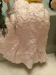 The dress detail .... (abbietabbie) Tags: wedding dog cheese groom bride labrador champagne polymerclay figure photostream handmodelled
