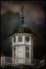 The Clock Tower Polesden lacey (tuffgrass 63 Back Now.) Tags: sky clock stormy clocktower textures