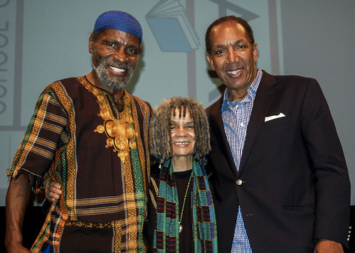 Poet Sonia Sanchez & Last Poets founding member Abiodun Oyewole @ The Schomberg Research Library during Harlem Book Fair weekend