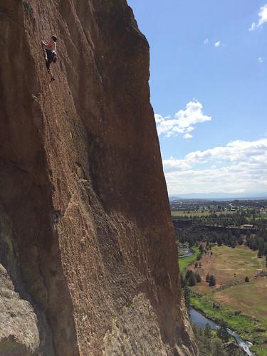 Kletterer am Smith Rock