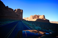 IMG_2641 Arches National Park Driving (anthonymaw) Tags: travel usa tourism reflections utah driving desert roadtrip archesnationalpark selfie