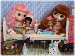 Zoe and Poppy love their Blythe dolls