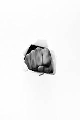 fist punch on the paper (Jamrazy) Tags: white man male sign freedom fight hit hand power arm symbol body finger background anger human fist violence conflict strength punch concept aggression gesture aggressive vector isolated bump caucasian