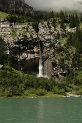 Wasserfall - Waterfall eines Bergbach ( Creek - Bach ) am Oeschinensee ( Bergsee - See - Lac - Lake ) oberhalb von Kandersteg im Berner Oberland im Kanton Bern in der Schweiz (chrchr_75) Tags: chriguhurnibluemailch christoph hurni schweiz suisse switzerland svizzera suissa swiss kantonbern chrchr chrchr75 chrigu chriguhurni 1407 juli 2014 hurni140731 oeschinensee bergsee see lac lake lago alpensee kandersteg berner oberland berneroberland albumoeschinensee albumwasserflleimkantonbern albumwasserfllewaterfallsderschweiz wasserfall   vandfald waterfall cascade  cascada waterval wodospad vattenfall vodopd slap juli2014