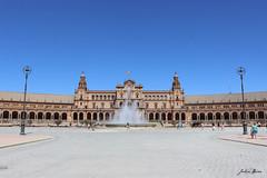 Plaza de España. (Julia_DP) Tags: españa sevilla andalucía spain europa arte fuente belleza magia plazaespaña